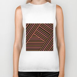 Striped pattern , patchwork 2 Biker Tank