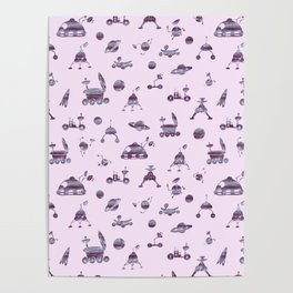 Space Cadet Pattern Poster