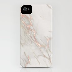 Marble Rose Gold Blush Pink Metallic by Nature Magick Slim Case iPhone (4, 4s)
