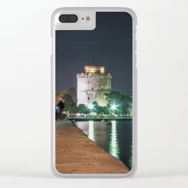 White Tower of Thessaloniki Clear iPhone Case