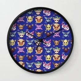 Eeveelutions Blue Wall Clock