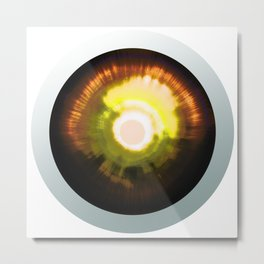 Bright Sun Eye - Graphic Design Metal Print