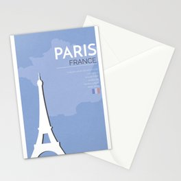 Paris Poster Stationery Cards