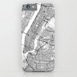 New York City Neutral Map Art Print iPhone Case