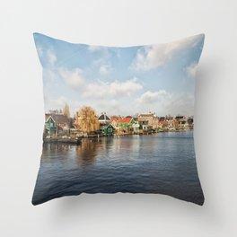 Zaanse Schans, Holland Throw Pillow