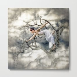 She Climbed to the Top Metal Print