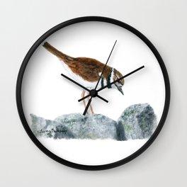 Killdeer Art 2 by Teresa Thompson Wall Clock