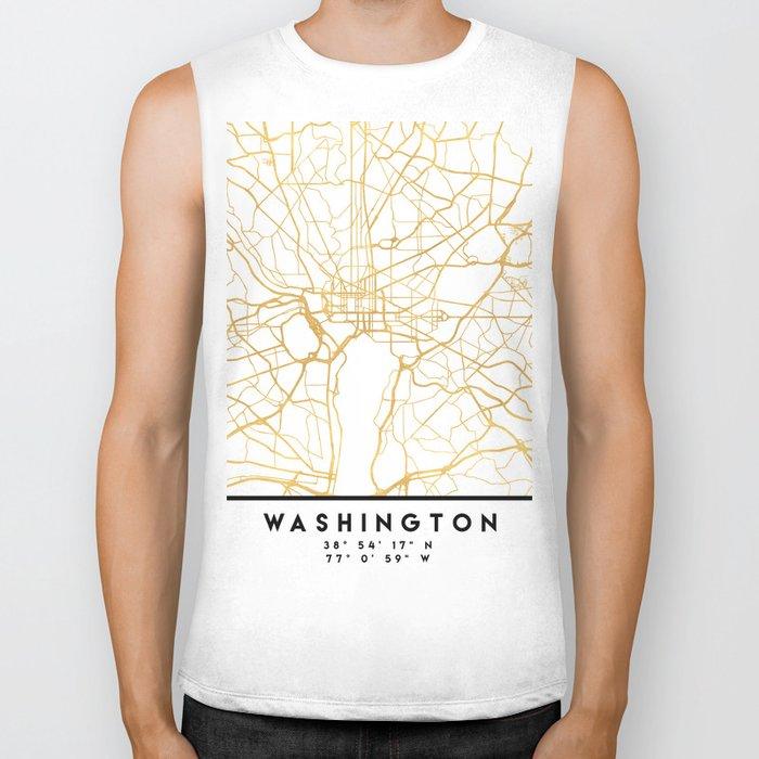 WASHINGTON D.C. DISTRICT OF COLUMBIA CITY STREET MAP ART Biker Tank