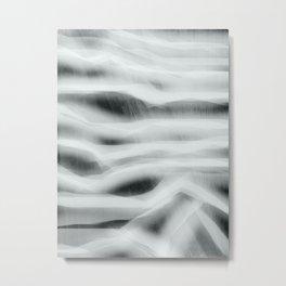Northern Lights - Black And White Metal Print