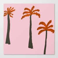 palms Canvas Prints featuring Palms by Georgiana Paraschiv