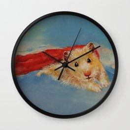 Hamster Superhero Wall Clock