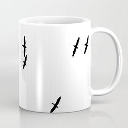 Pelican Crossing Birds Flight Silhouette Coffee Mug