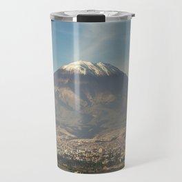 City of Arequipa in Peru with its iconic volcano Misti Travel Mug