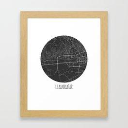Ulaanbaatar Framed Art Print