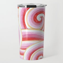 Red Auspicious Waves Travel Mug