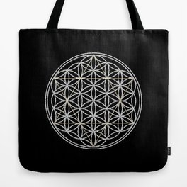 Flower of Life and Star of David Tote Bag