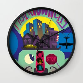 Mister Town City Wall Clock