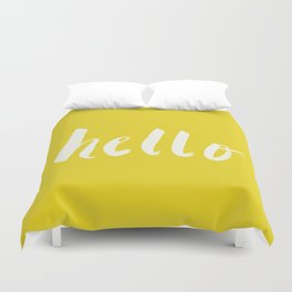 Hello x Sunshine Script Duvet Cover