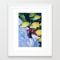 skiing Framed Art Prints featuring Water Skiing by John Turck