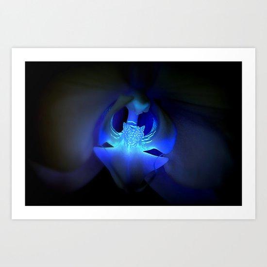 Orchidea in blue Art Print