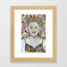 Nail Polish painting of Kira Kosarin Framed Art Print