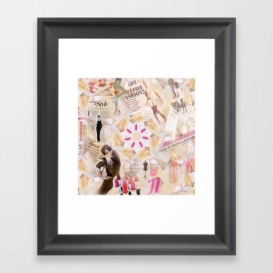 Fashion Addiction Framed Art Print