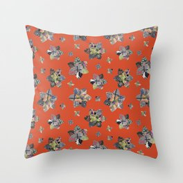 Geometric Quilt Colorway 1 Throw Pillow