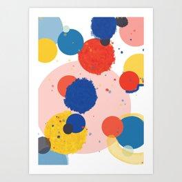 Blue & Orange Circles Art Print