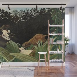 Henri Rousseau - Scouts Attacked by a Tiger Wall Mural