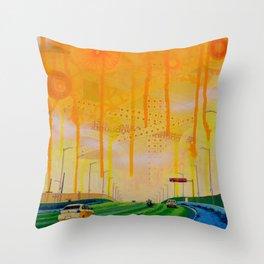 Yellow Santa Fe Overpass Throw Pillow