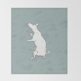 Red eyed rat Throw Blanket
