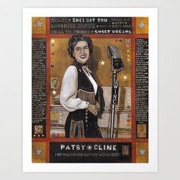 Patsy Cline Art Print