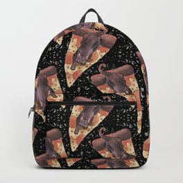 cat galaxy pizza stars Backpack