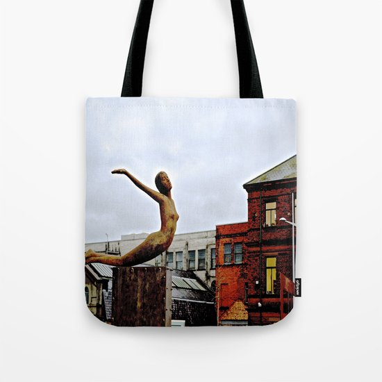 She Flies Across Belfast Tote Bag