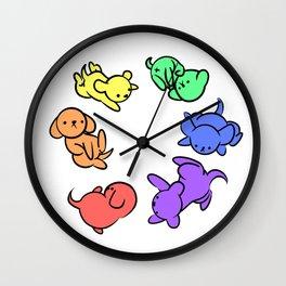 Rainbow Puppies - Loop Wall Clock