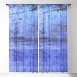 psychedelic sky clouds pattern wsdbi Sheer Curtain