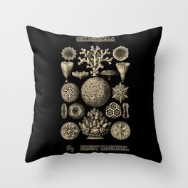 """""""Hexacoralla"""" from """"Art Forms of Nature"""" by Ernst Haeckel Throw Pillow"""