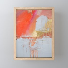 Insight: a minimal, abstract painting in reds and golds by Alyssa Hamilton Art Framed Mini Art Print