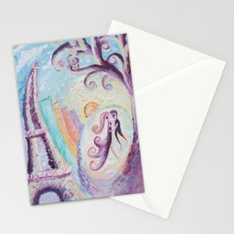 Permanence in Paris - Abstract painting Stationery Cards