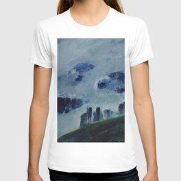 Mists in the Blue Mountains, Twilight landscape by Mikalojus Konstantinas Ciurlionis T-shirt