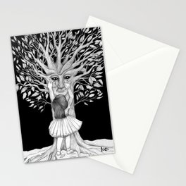 The sad night tree Stationery Cards
