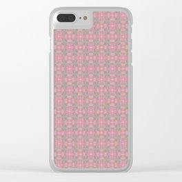 Sultan Silks Pink Diamond IV Clear iPhone Case