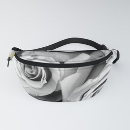 Black and White Roses Fanny Pack