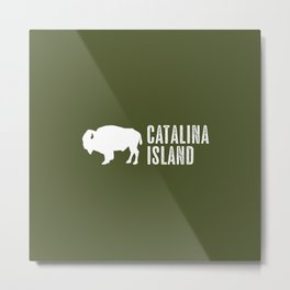 Bison: Catalina Island Metal Print
