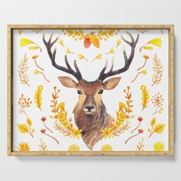 Autumn Deer Serving Tray