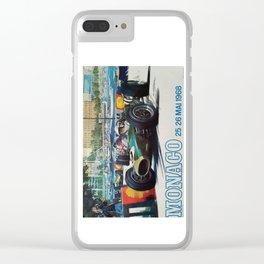 Gran Prix de Monaco, 1968, original vintage poster Clear iPhone Case