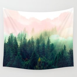 Watercolor mountain landscape Wall Tapestry
