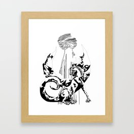 A Dragon from your Subconscious Mind Framed Art Print