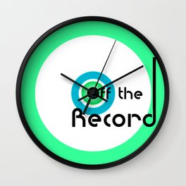Off the Record - white Wall Clock