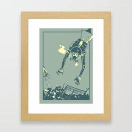 Treasure Diving Framed Art Print